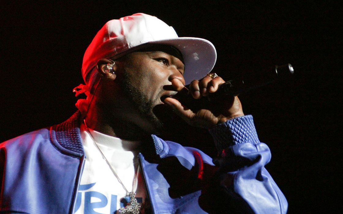 50-CENT Curtis Jackson Hip hop rap cent gangsta concert concerts microphone wallpaper