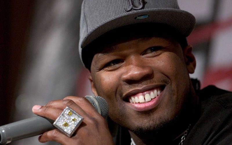 50-CENT Curtis Jackson Hip hop rap cent gangsta microphone wallpaper