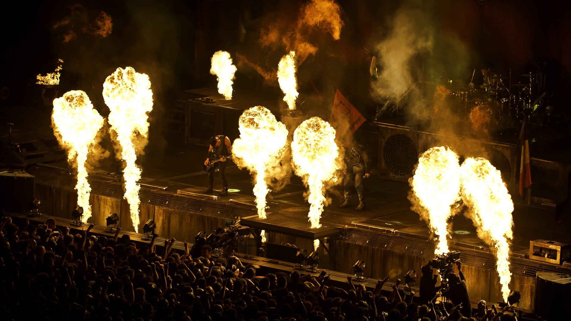 Rammstein industrial metal heavy concert concerts fire f wallpaper