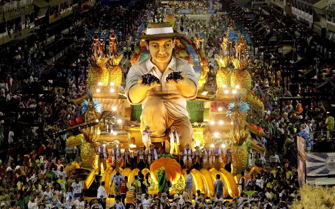 2013 Carnival in Rio de Janeiro crowd people festival wallpaper