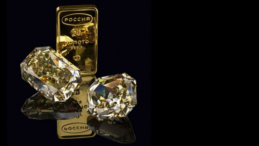 gold bullion diamonds wallpaper