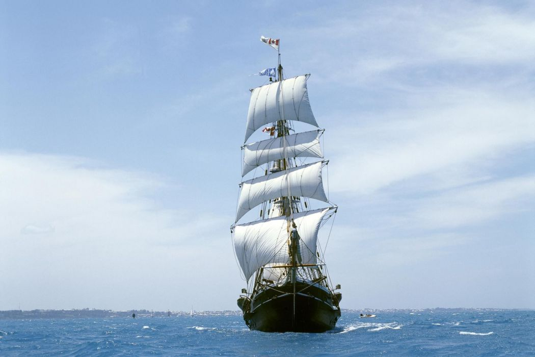 sea ship sailboat ocean sailing ships boat boats waves wallpaper