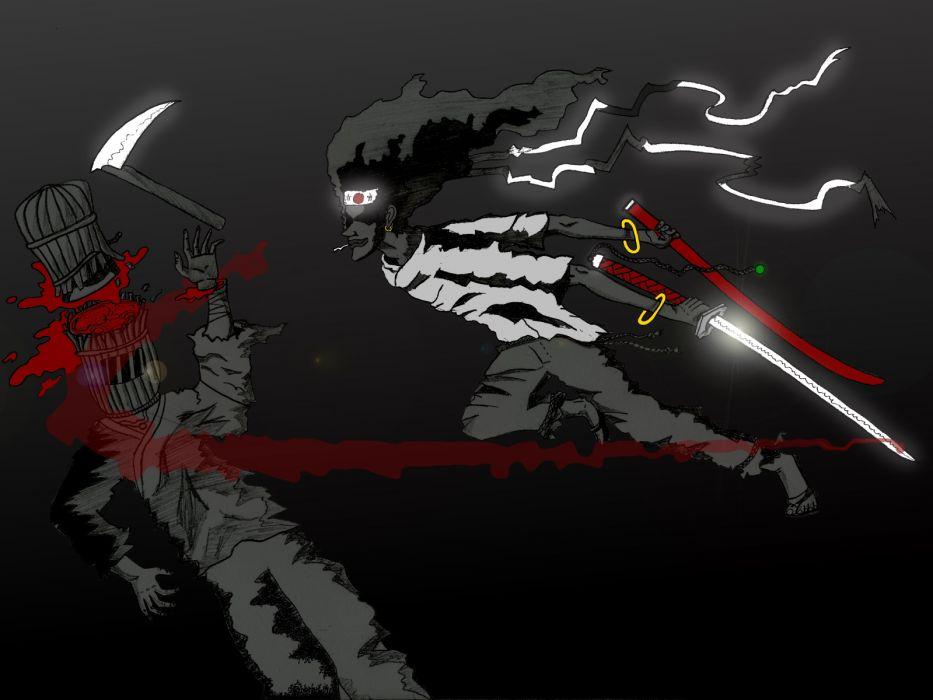 Afro Samurai anime game blood   s wallpaper