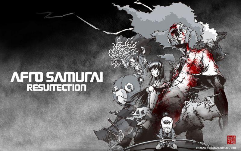 Afro Samurai blood anime game wallpaper
