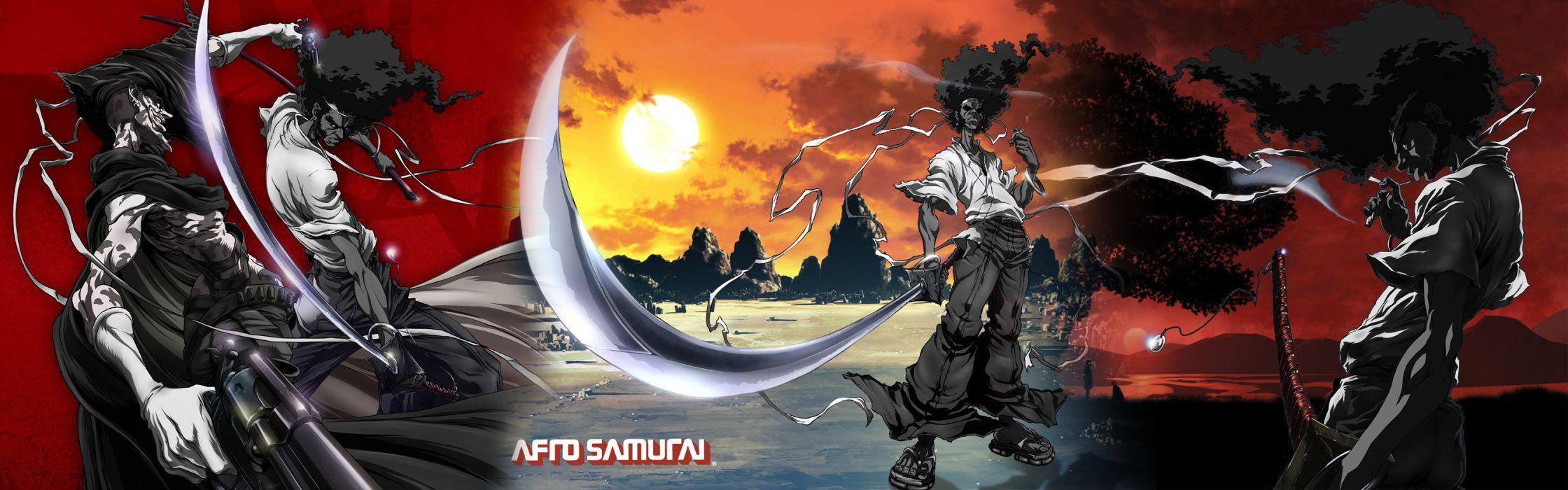 Afro Samurai dual multi anime game   b wallpaper