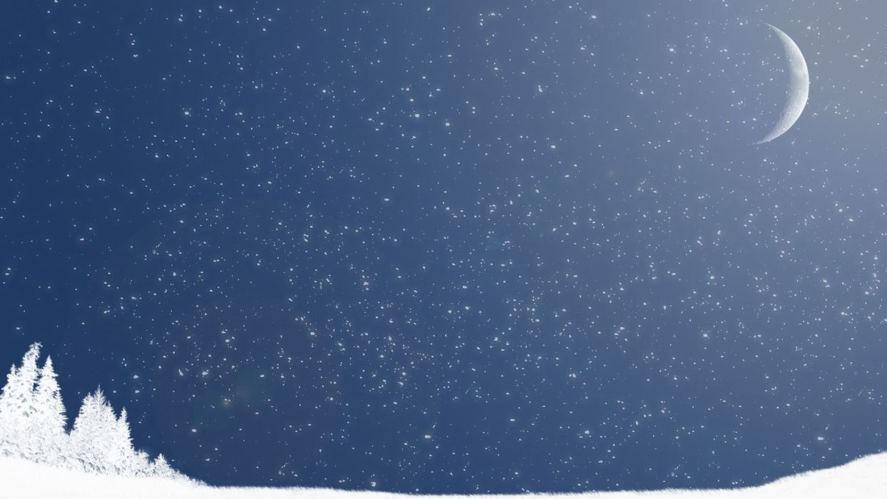 winter snow night snow landscapes wallpaper
