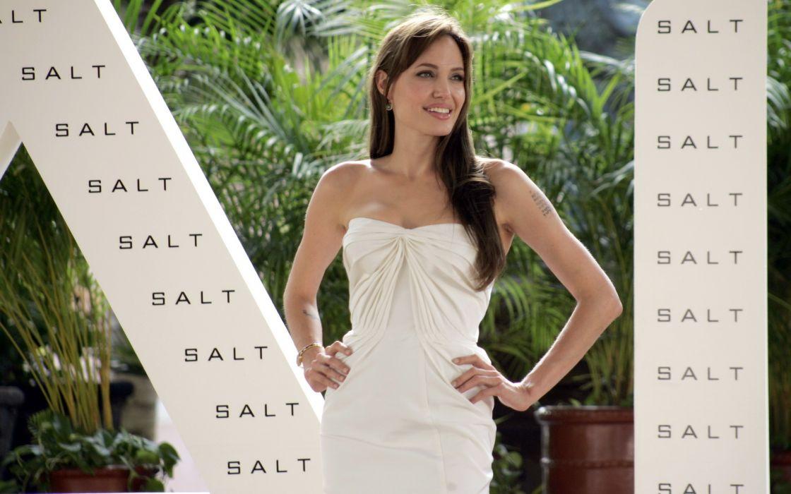 Angelina Jolie actress brunette girl girls women female females     s wallpaper