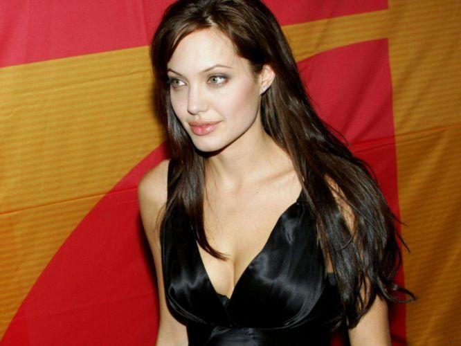Angelina Jolie actress brunette girl girls women female females a wallpaper