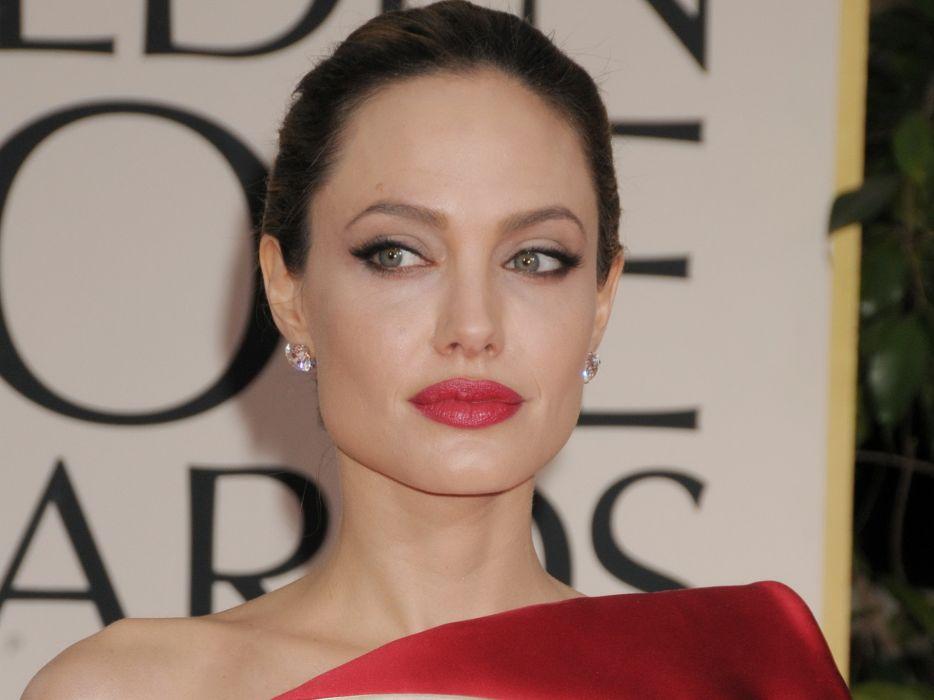 Angelina Jolie actress brunette girl girls women female females   d wallpaper