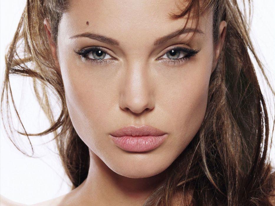 Angelina Jolie actress brunette girl girls women female females   h wallpaper