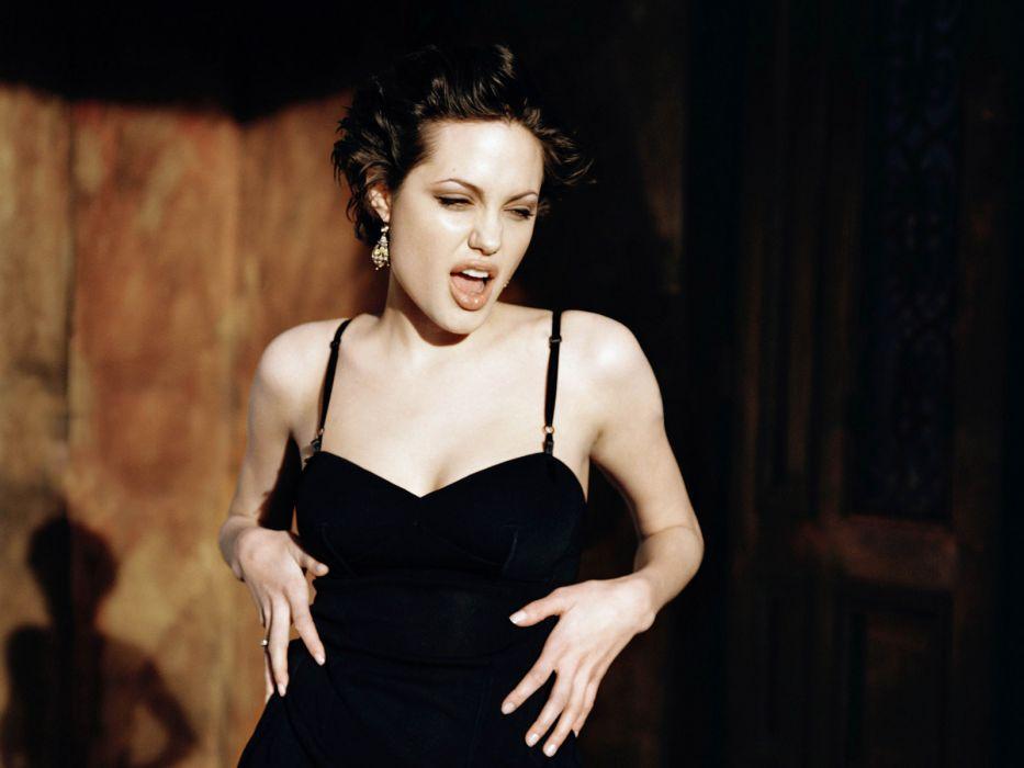 Angelina Jolie actress brunette girl girls women female females   n wallpaper