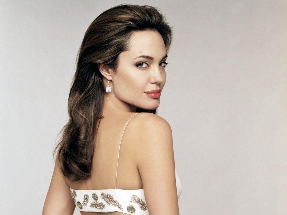 Angelina Jolie actress brunette girl girls women female females  x wallpaper