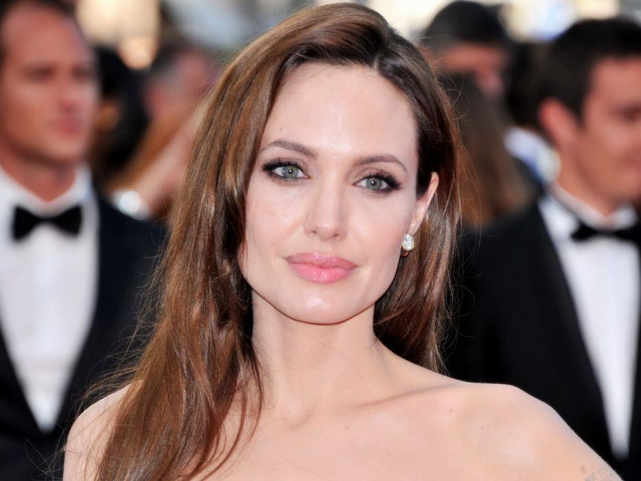 Angelina Jolie actress brunette girl girls women female females  k wallpaper