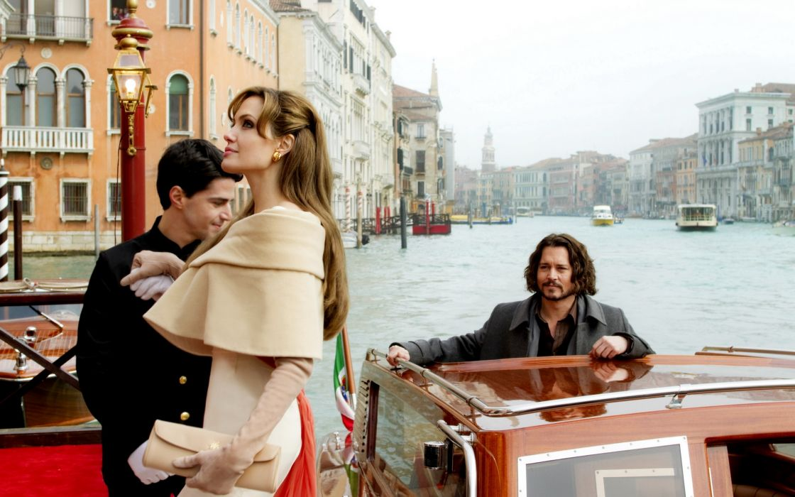 Angelina Jolie actress brunette girl girls women female females tourist johnny depp movies wallpaper