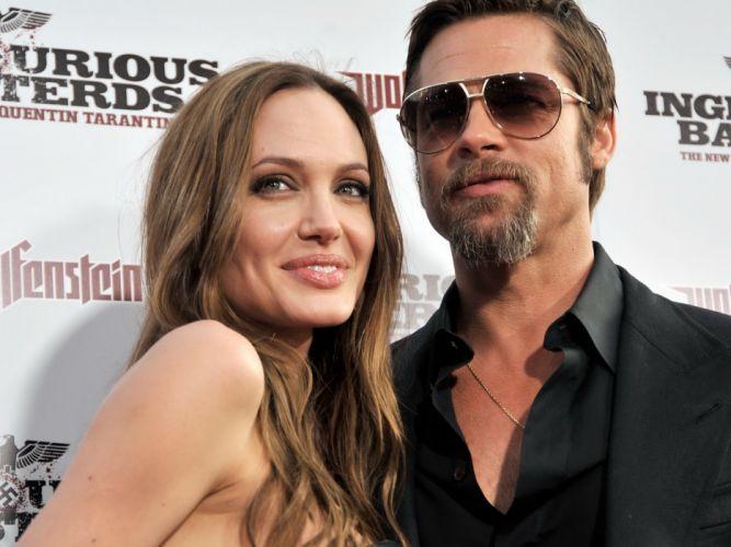 Angelina Jolie Brad Pitt actor actors men male males actress brunette girl girls women female females wallpaper