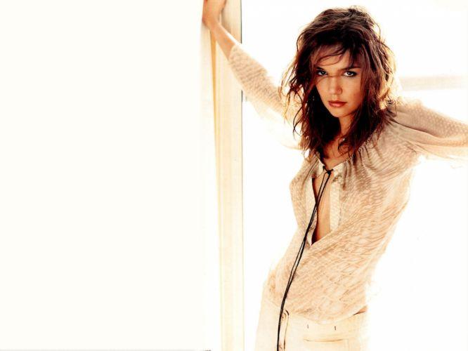 Katie Holmes actress women female females girl girls brunette brunettes dw wallpaper