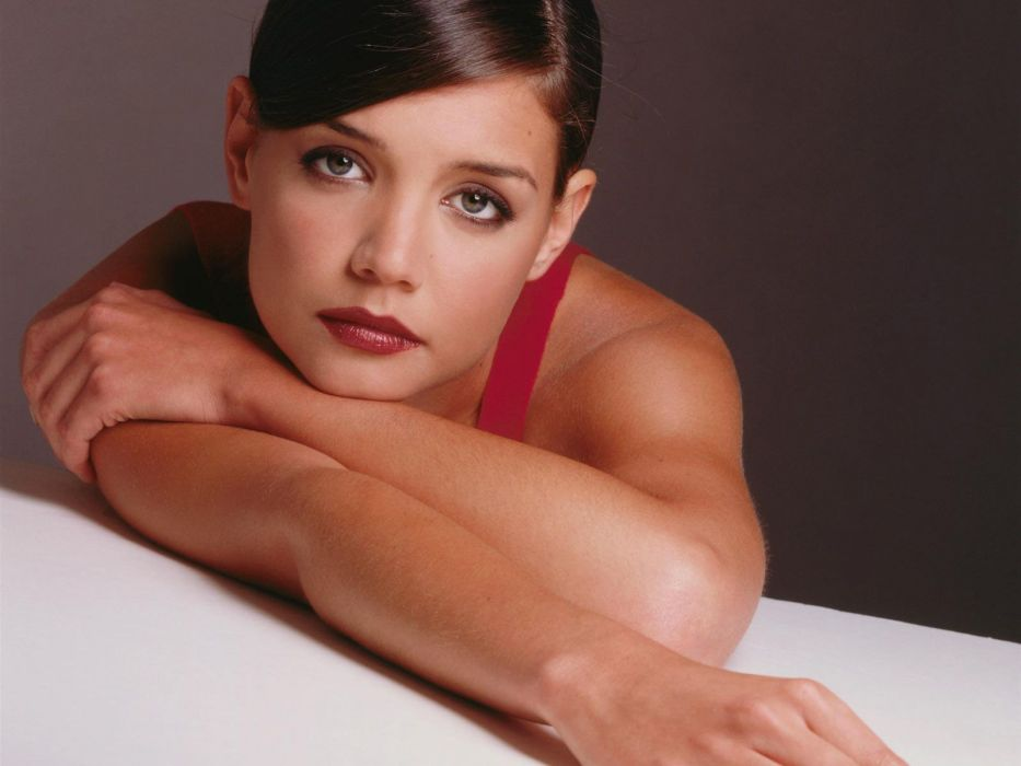 Katie Holmes actress women female females girl girls brunette brunettes  cd wallpaper