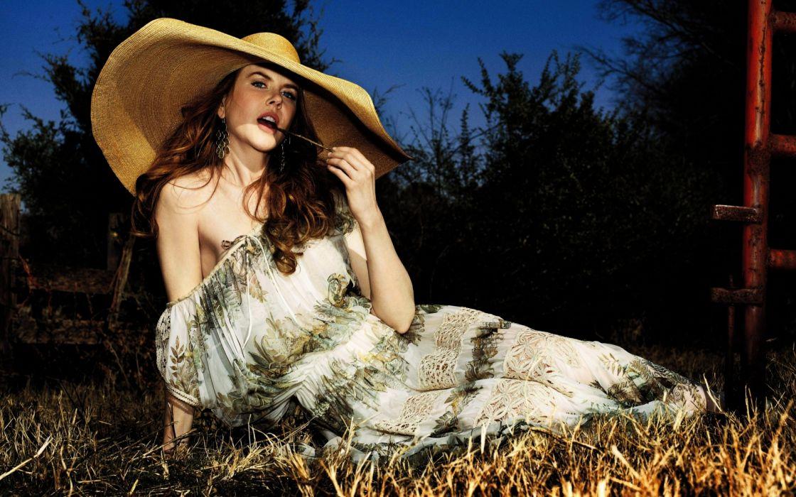 Nicole Kidman actress women female females girl girls blonde blondes redheads rehead     h wallpaper