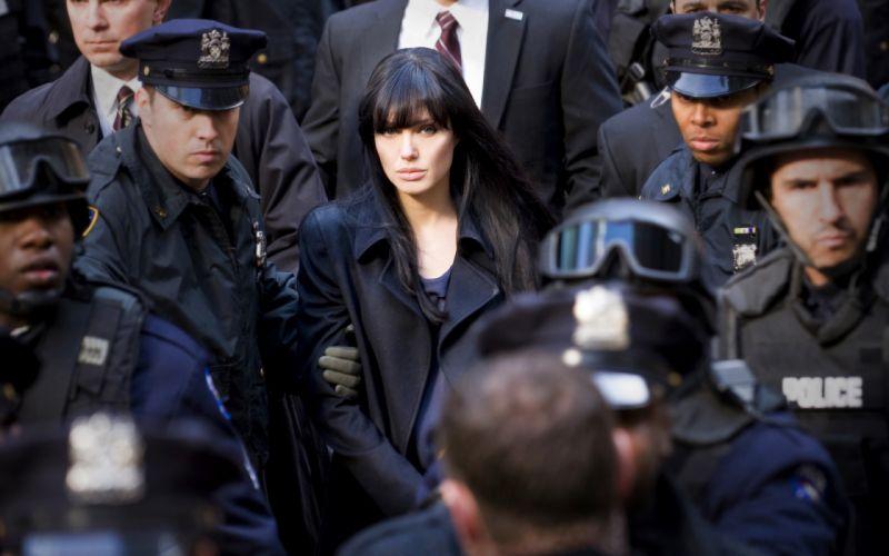 SALT Angelina Jolie actress brunette girl girls women female females movie movies d wallpaper