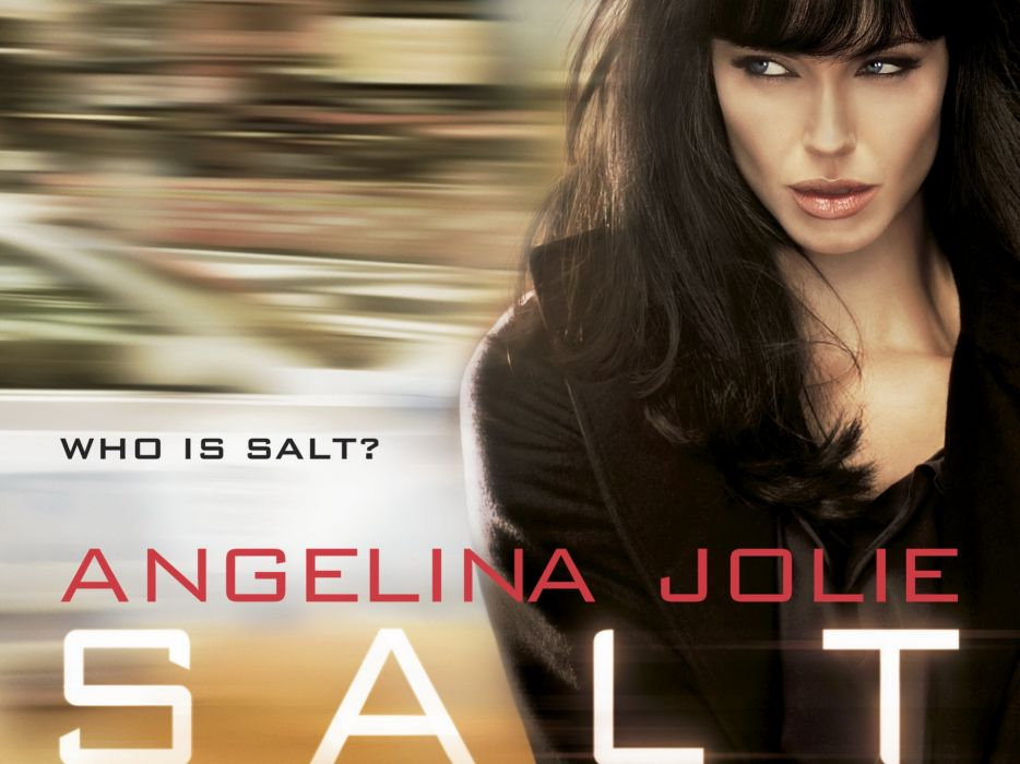 SALT Angelina Jolie actress brunette girl girls women female females movie movies poster posters wallpaper