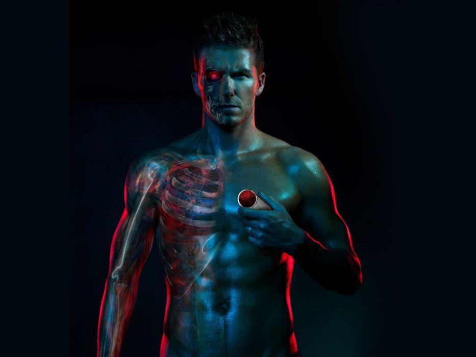 David Beckham soccer men male males sports sci-fi cyborg cyborgs robot robots wallpaper