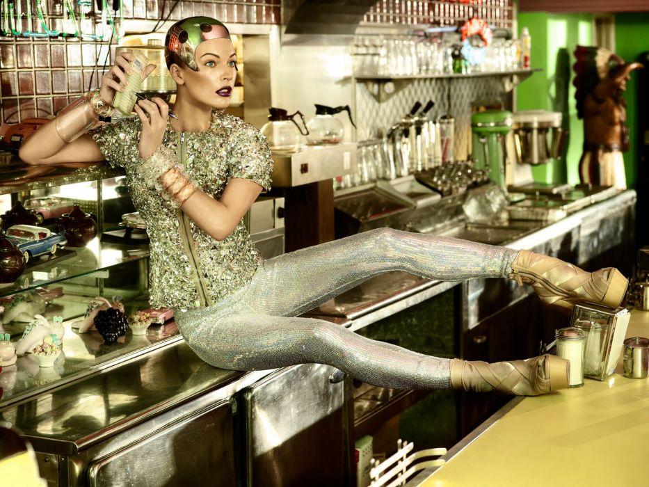 Milla Jovovich actress brunette brunettes women female feamles girl girls    b wallpaper