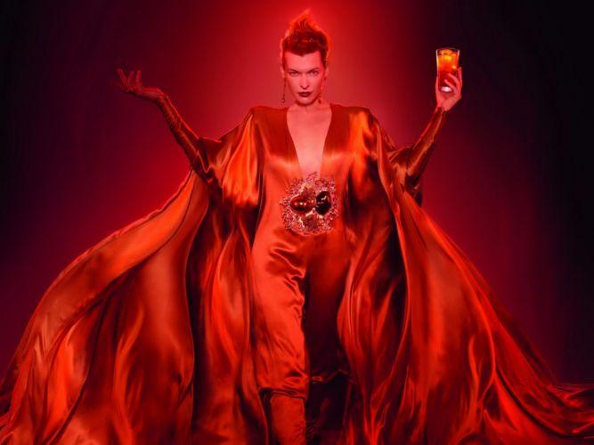 Milla Jovovich actress brunette brunettes women female feamles girl girls d wallpaper