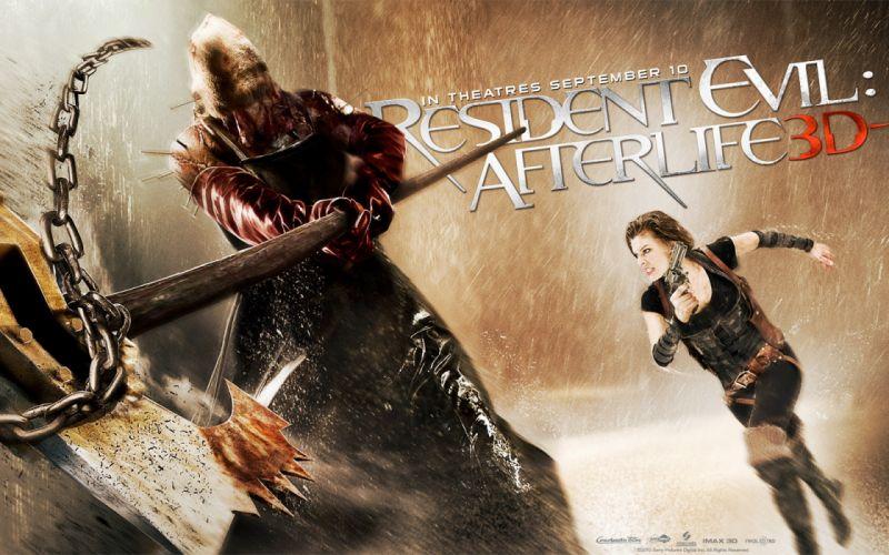 Milla Jovovich actress brunette brunettes women female feamles girl girls resident evil movie movies f wallpaper
