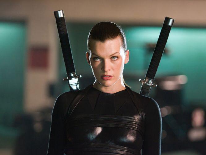 Milla Jovovich actress brunette brunettes women female feamles girl girls resident evil movie movies x wallpaper