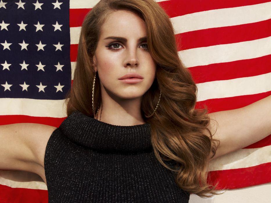 Lana Del Rey singer singers pop redhead redheads women females female girl girls flags flag wallpaper