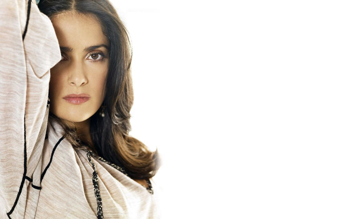 Salma Hayek actress brunette brunettes women woman female females girl girls     d wallpaper