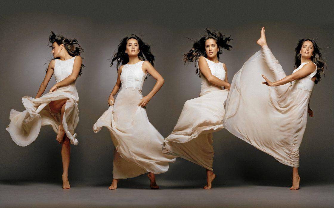 Salma Hayek actress brunette brunettes women woman female females girl girls    c wallpaper