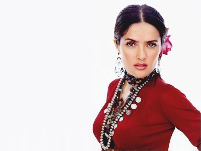 Salma Hayek actress brunette brunettes women woman female females girl girls f wallpaper
