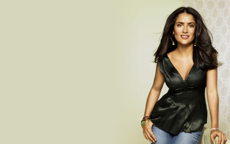Salma Hayek actress brunette brunettes women woman female females girl girls c wallpaper
