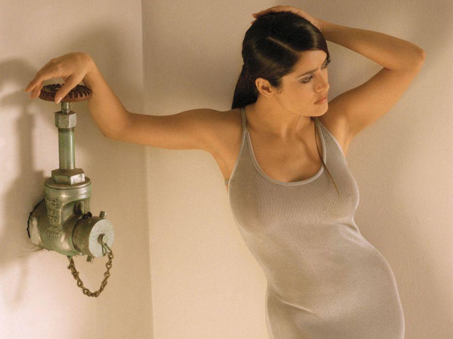 Salma Hayek actress brunette brunettes women woman female females girl girls  d wallpaper