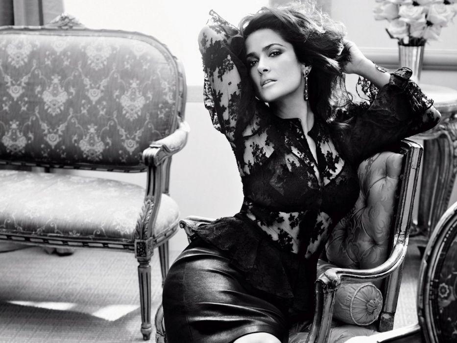 Salma Hayek actress brunette brunettes women woman female females girl girls t wallpaper