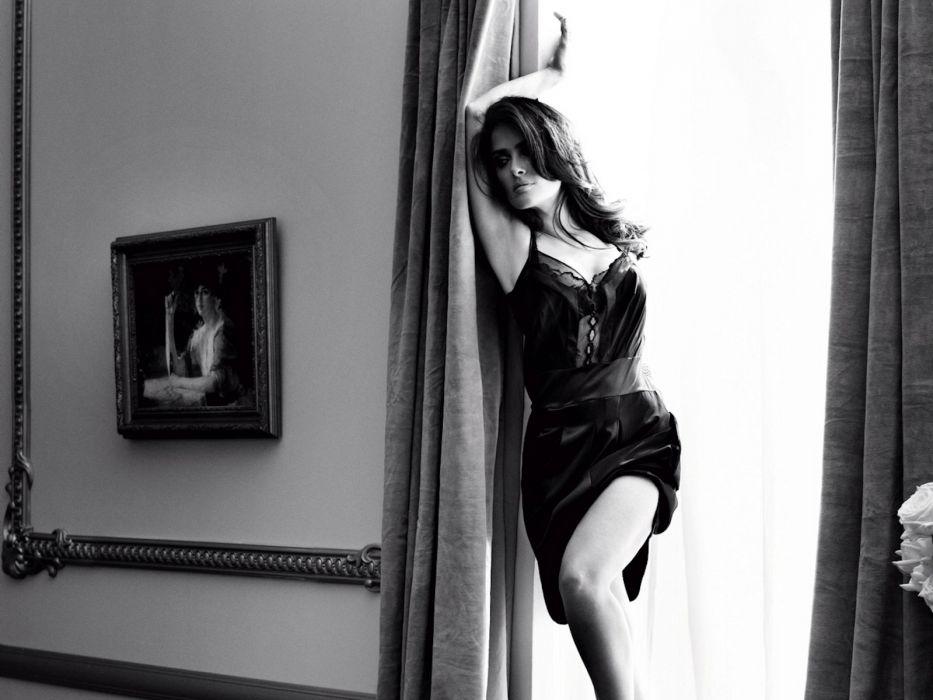 Salma Hayek actress brunette brunettes women woman female females girl girls w wallpaper