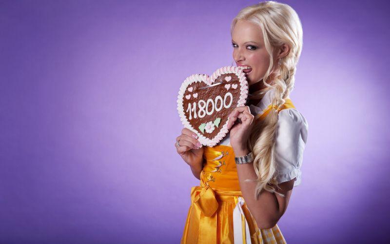 Daniela Katzenberger model models singer music women female females blonde blondes f wallpaper