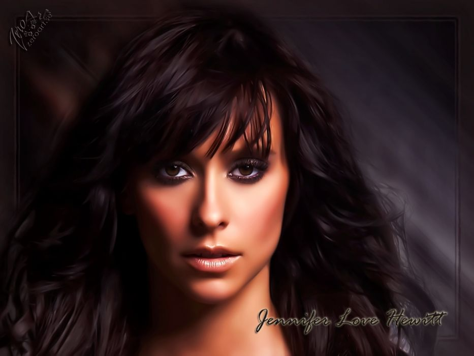 Jennifer Love Hewitt actress brunettes brunette women female females   g wallpaper