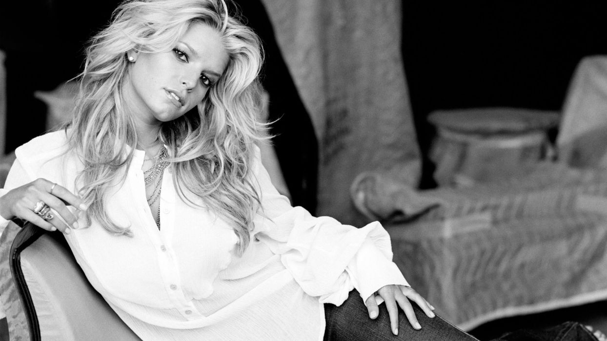 Jessica Simpson singer pop women female females         l wallpaper