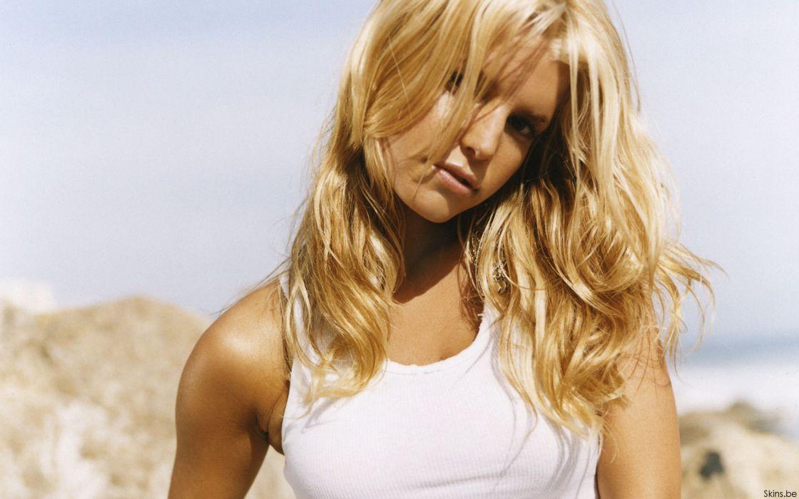 Jessica Simpson singer pop women female females     b wallpaper