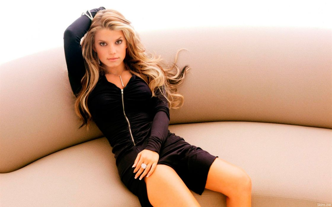 Jessica Simpson singer pop women female females    a wallpaper