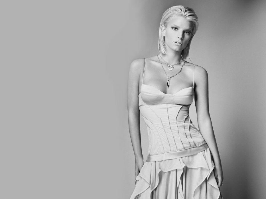 Jessica Simpson singer pop women female females  f wallpaper