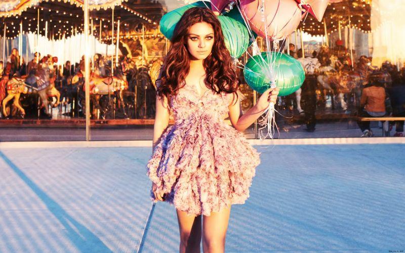 Mila Kunis actress brunette brunettes women female females l wallpaper
