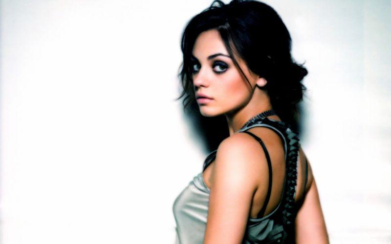 Mila Kunis actress brunette brunettes women female females d wallpaper