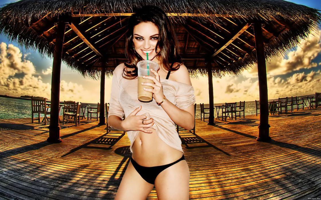 Mila Kunis actress brunette brunettes women female females       g wallpaper
