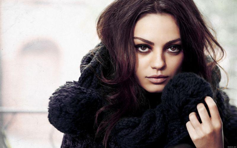 Mila Kunis actress brunette brunettes women female females j wallpaper