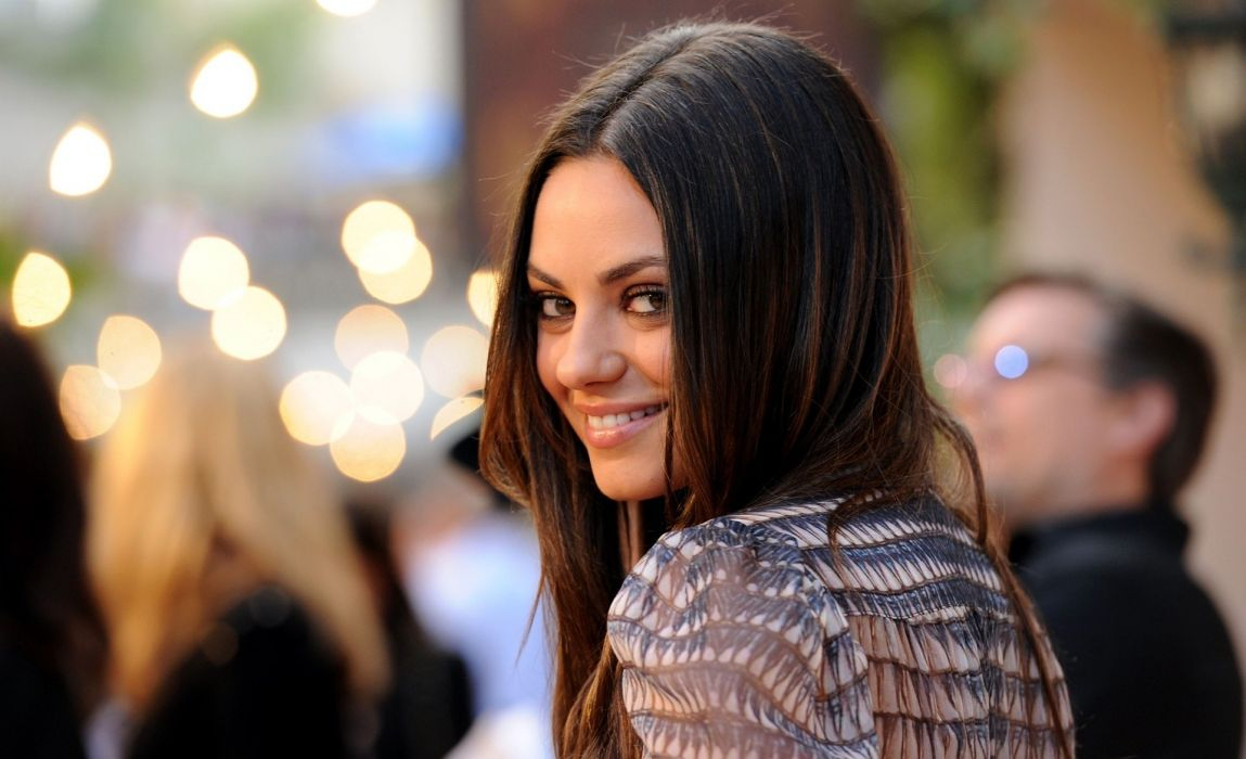 Mila Kunis actress brunette brunettes women female females     h wallpaper