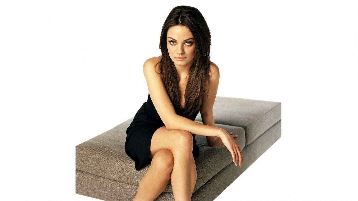 Mila Kunis actress brunette brunettes women female females  n wallpaper