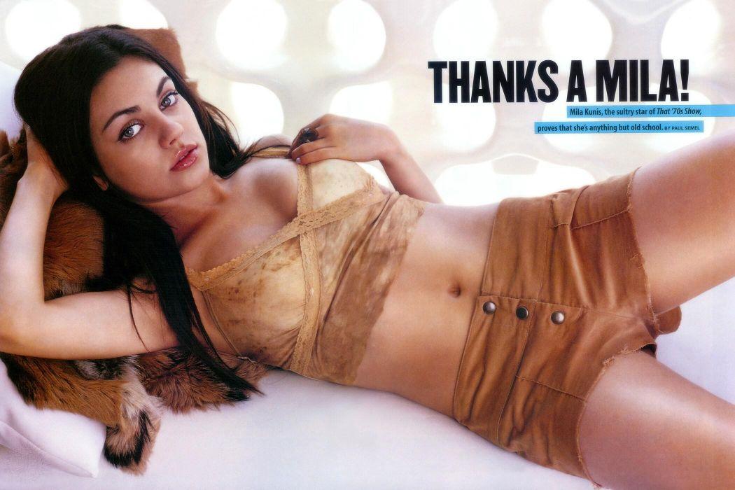 Mila Kunis actress brunette brunettes women female females justin timberlake singer pop      g wallpaper